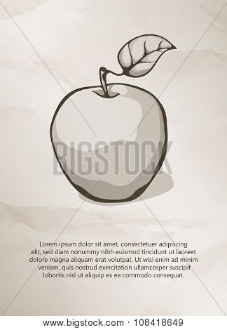 Apple on grunge background.
