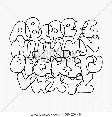 Funny Wire Alphabet