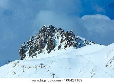 Winter Mountain Top View (austria).