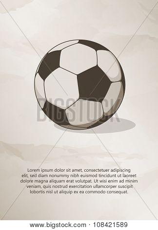 Soccer, football ball.