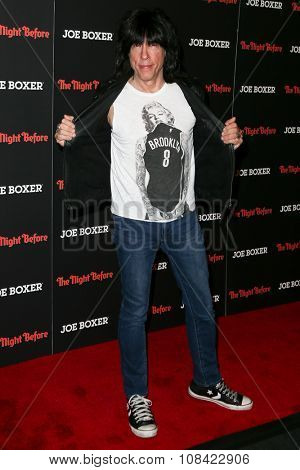 NEW YORK-NOV 16: Musician Marky Ramone attends the New York Red Carpet screening of Columbia Pictures'