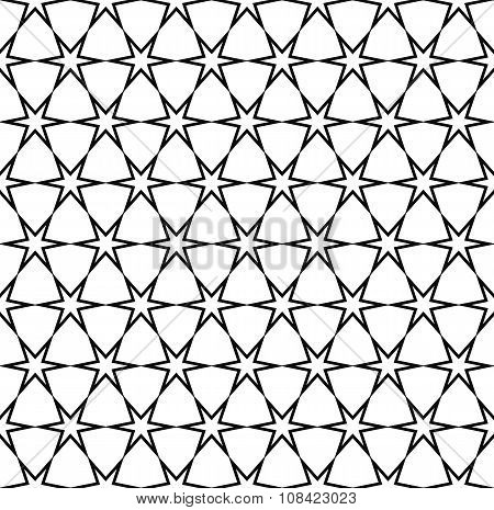 Repeating black and white star pattern