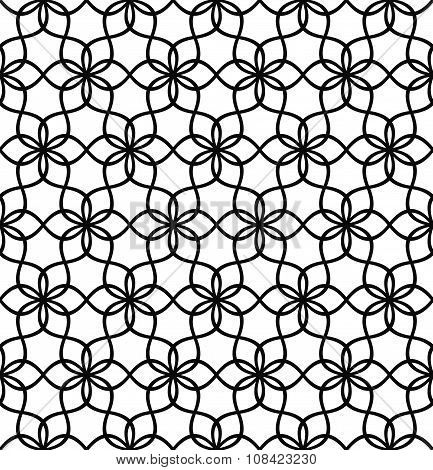 Repeating black and white wave line pattern