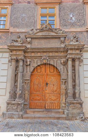 Portal Of U Mramoru House In Kutna Hora Town, Unesco Site