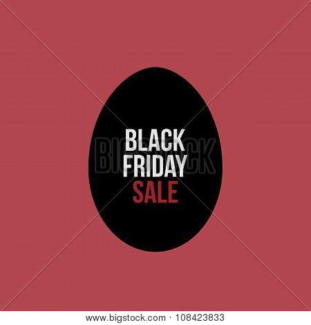Black Friday Sale Text on Egg Label