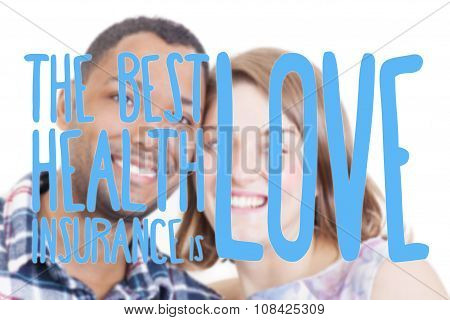 In Love Interracial couple quote