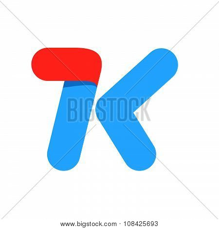 K Letter With Fast Speed Line.
