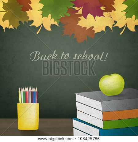 Autumn School Background