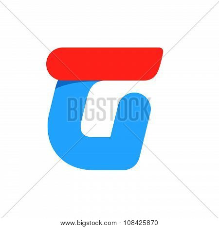 G Letter With Fast Speed Line.