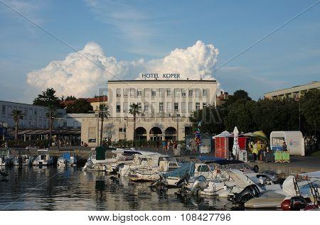 Tourist Harbor And Hotel Koper