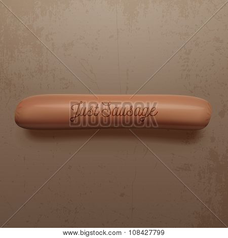 Realistic Sausage for Hot Dog with Shadows
