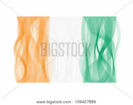 Wave line flag of Ivory Coast
