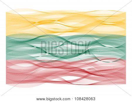 Wave line flag of Lithuania