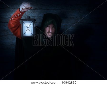 Night Watchman With A Lantern