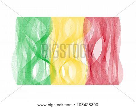 Wave line flag of Mali