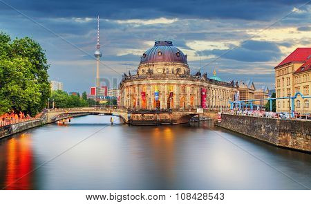 Germany, Berlin At Twilight