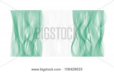 Wave line flag of Nigeria