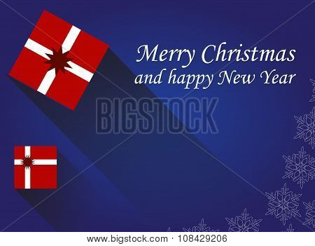 Vector Christmas Card With Gift Boxes