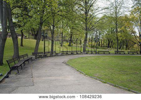 Bastion Hill and park in Riga. Latvia