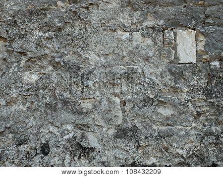 Texture of grey old bricks