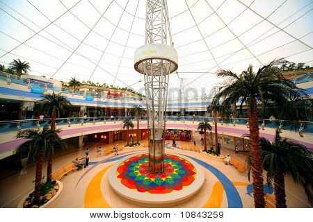 Under The Dome Of Large Shopping Center Marina Mall On April 15, 2010