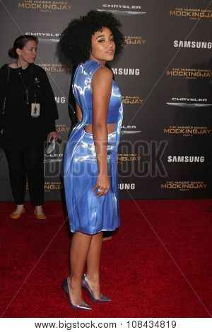 LOS ANGELES - NOV 16:  Amandla Stenberg at the