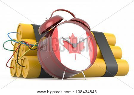 Time Bomb With Canadian Flag