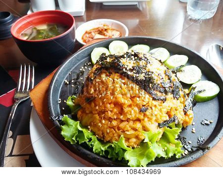 Korean Food, Kimchi  Fried Rice With Soap