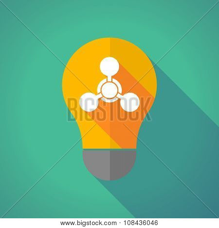 Long Shadow Vector Light Bulb With A Chemical Weapon Sign