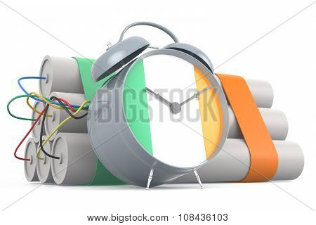 Time Bomb With Irish Flag