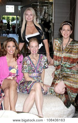 LOS ANGELES - NOV 14:  Alex Meneses, Angeline-Rose Troy, Penelope Ann Miller, Joely Fisher at the Private Shopping Event at the Naked Princess on November 14, 2015 in Los Angeles, CA