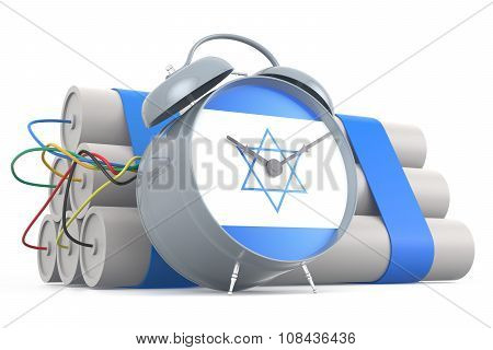 Time Bomb With Israeli Flag