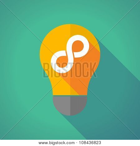 Long Shadow Vector Light Bulb With An Infinite Sign