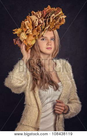 Autumn Leaves Crown