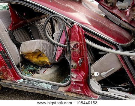 Car Accident Interior Broken Glass
