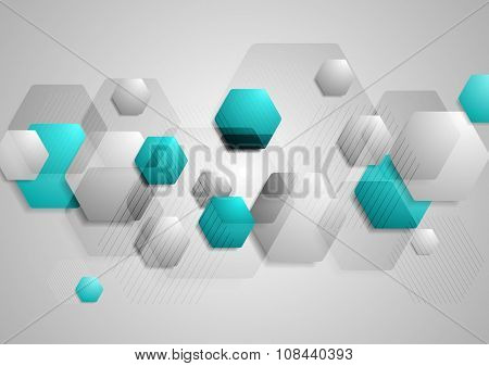 Abstract hi-tech geometric vector background