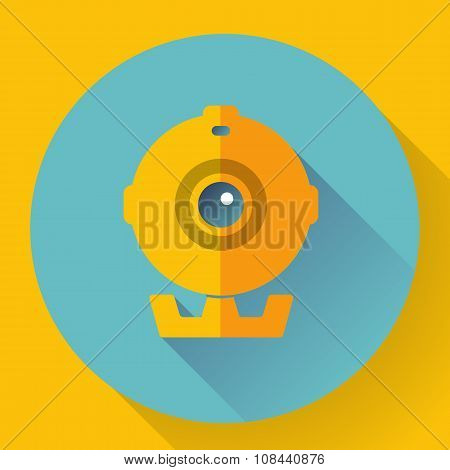 Flat Webcam Icon - Simple vector illustration