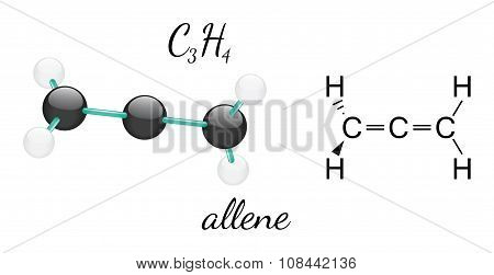 C3H4 allene molecule