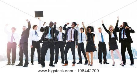 Business Peope Success Celebration Winning Concept