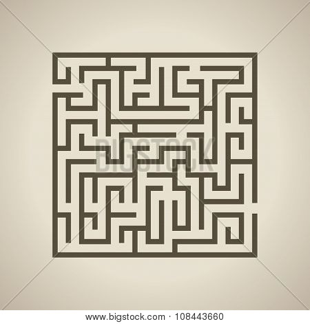 Vector illustration of Maze or Labyrinth.