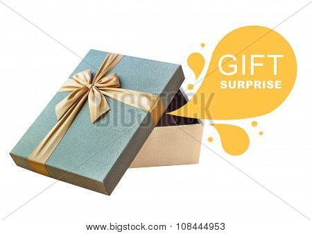 Isolated gift box with callout