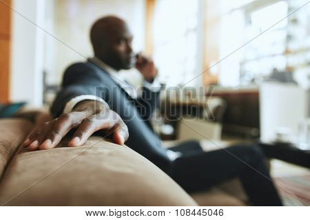 Businessman Waiting On Hotel Reception