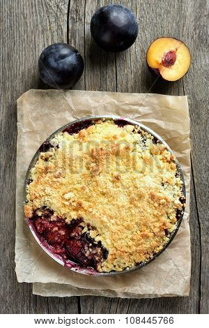 Fruit Pie With Plums