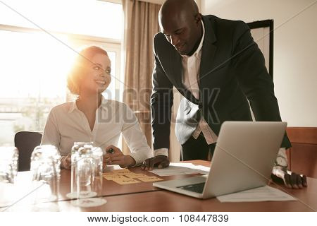 Young Business People Meeting In Conference Room