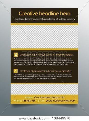 Business flyer design - clean modern design