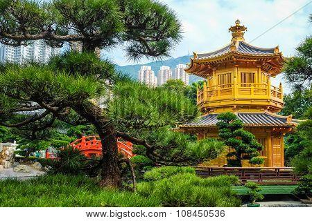 Golden Pavilion Chi Lin Nunnery Temple