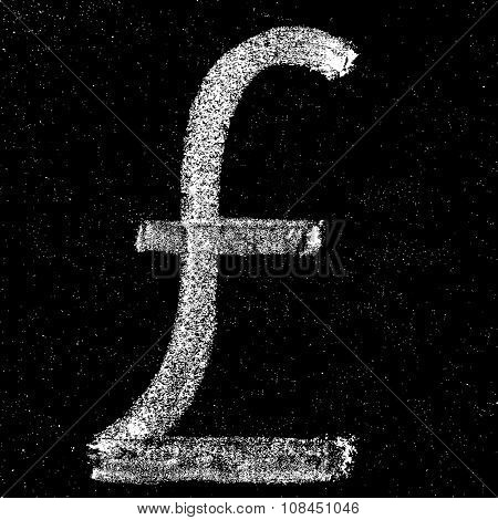 Pound sign on chalkboard