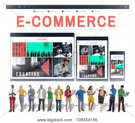 E-business E-commerce Business Responsive Design Concept