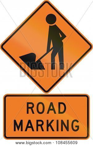 Road Sign Assembly In New Zealand - Road Marking