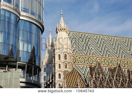stephansdom vienna with haas haus